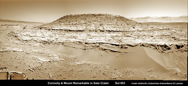 Curiosity and Mt Remarkable Sol 60