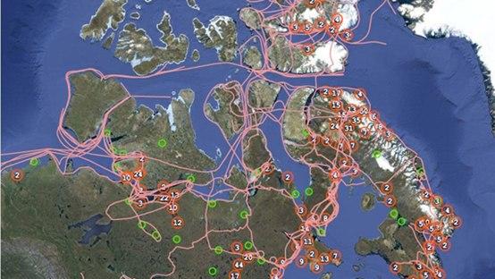 Nuovo atlante on-line traccia i sentieri degli inuit
